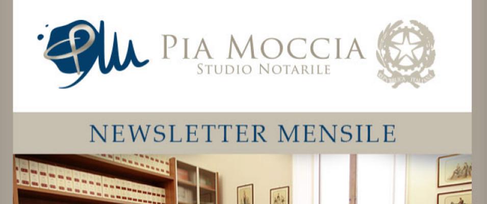 La newsletter dello Studio Notarile Moccia